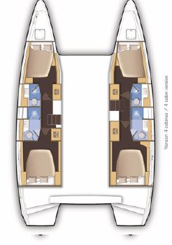 Lagoon 46 - 4 + 2 cab. (GRAND BLUE (skippered only) (generator, air condition, water maker))  - 1