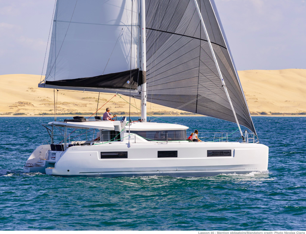 Lagoon 46 - 4 + 2 cab. (GRAND BLUE (skippered only) (generator, air condition, water maker))  - 0