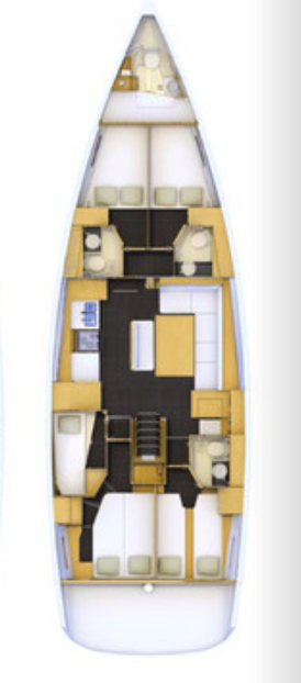Jeanneau 54 - 5 + 1 cab. (CALESI - AC/GEN/WAT)  - 1