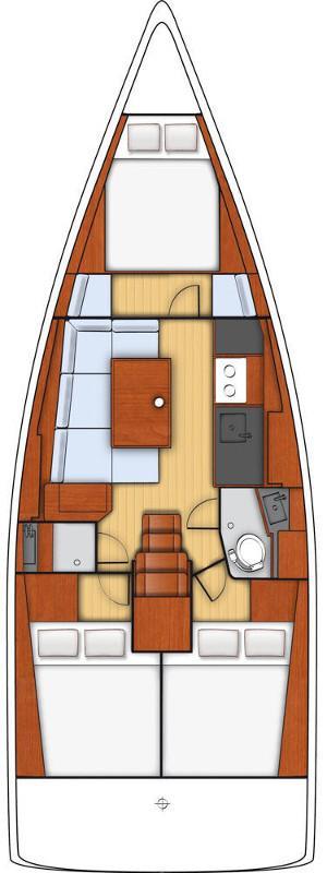 Oceanis 38 - 3 cab. (Arianna)  - 1