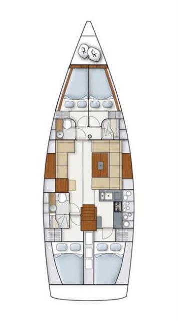 Hanse 445 (Ginger)  - 1