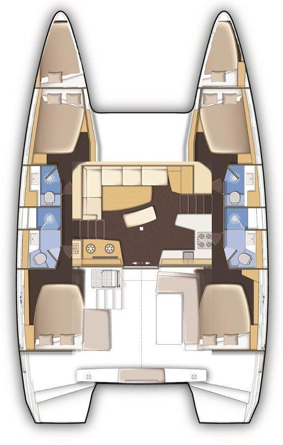Lagoon 42 - 4 + 2 cab. (Maximus)  - 1