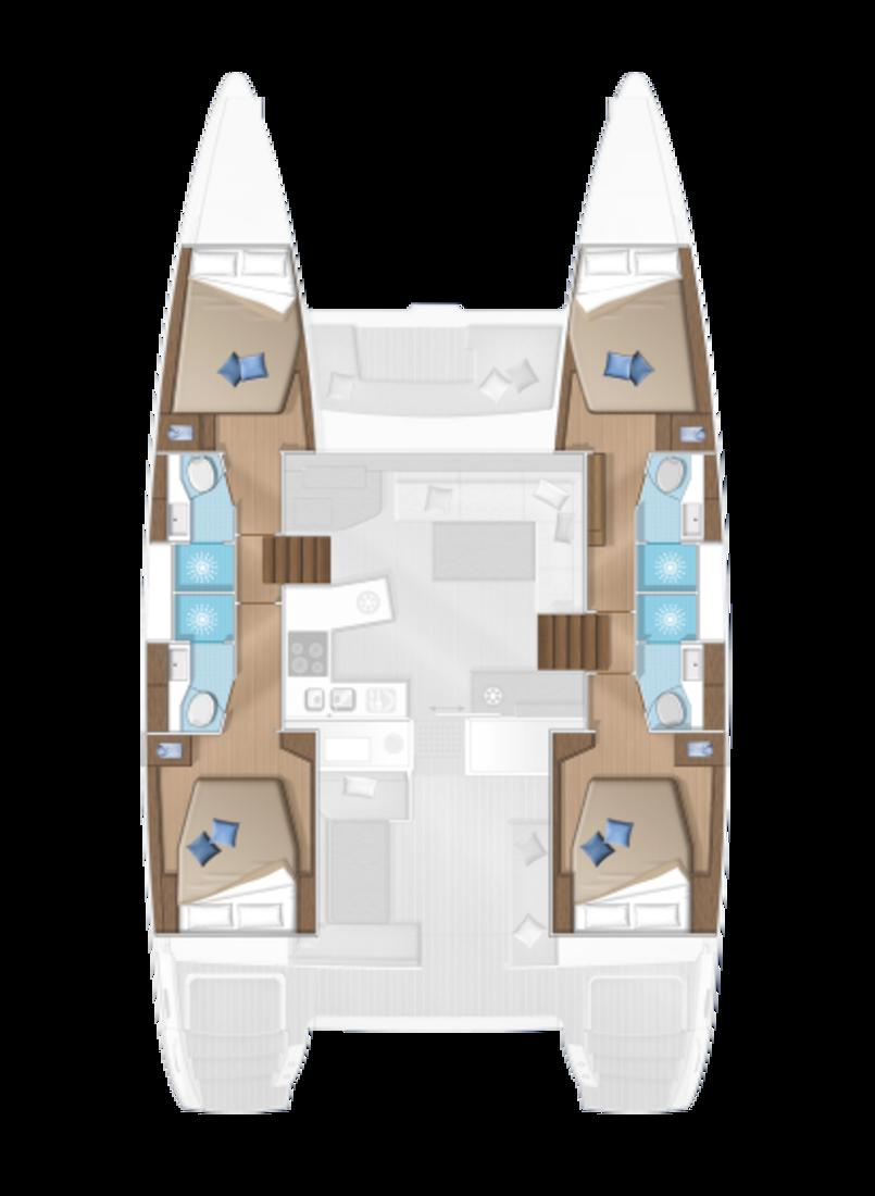 Lagoon 450 F - 4 + 2 cab. (Zacapa (generator, air condition, water maker))  - 1