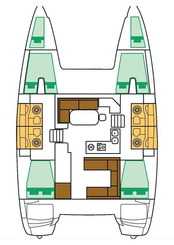 Lagoon 400 S2 - 4 + 2 cab. (Giselle)  - 13