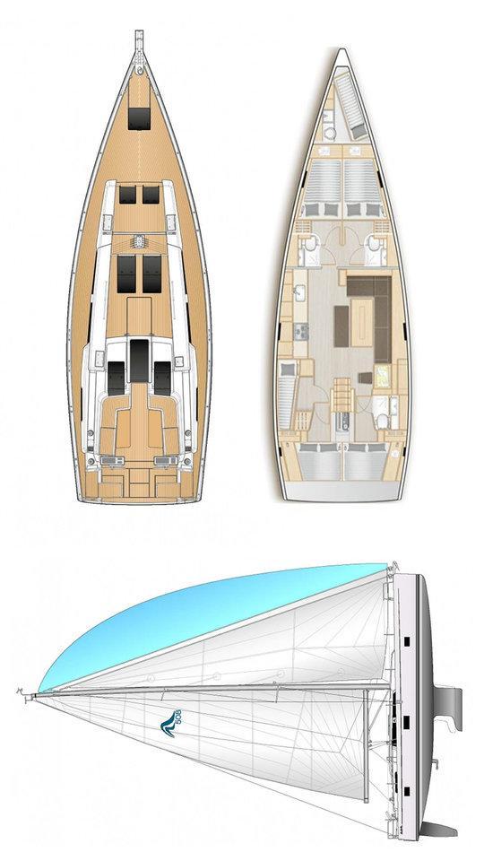 Hanse 508 - 5 + 1 cab. (Medusa II)  - 1