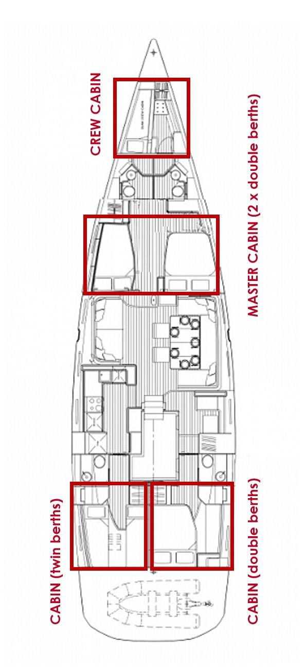 Jeanneau 64 OW - 4 + 1 cab. (BALLADEER)  - 1