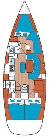 Oceanis Clipper 411 - 4 cab. (411 memos)  - 1