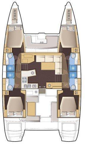 Lagoon 450 - 4 + 2 cab. (Sailing Blue 5 (Air conditioned))  - 1