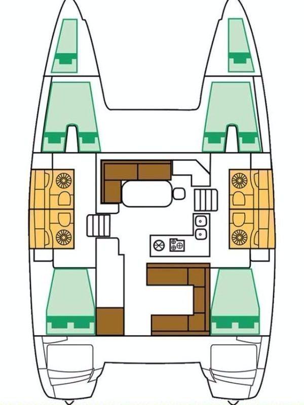 Lagoon 400 S2 - 4 + 2 cab. (Artemisimi)  - 1