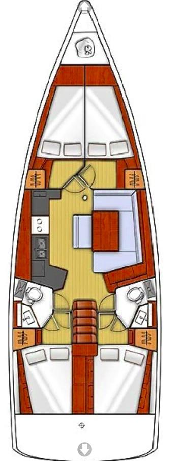 Oceanis 45 - 4 cab. (Marina)  - 1