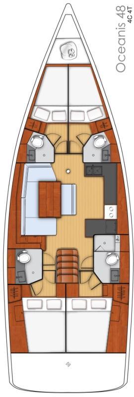 Oceanis 48 - 4 cab. (Claudia II)  - 1
