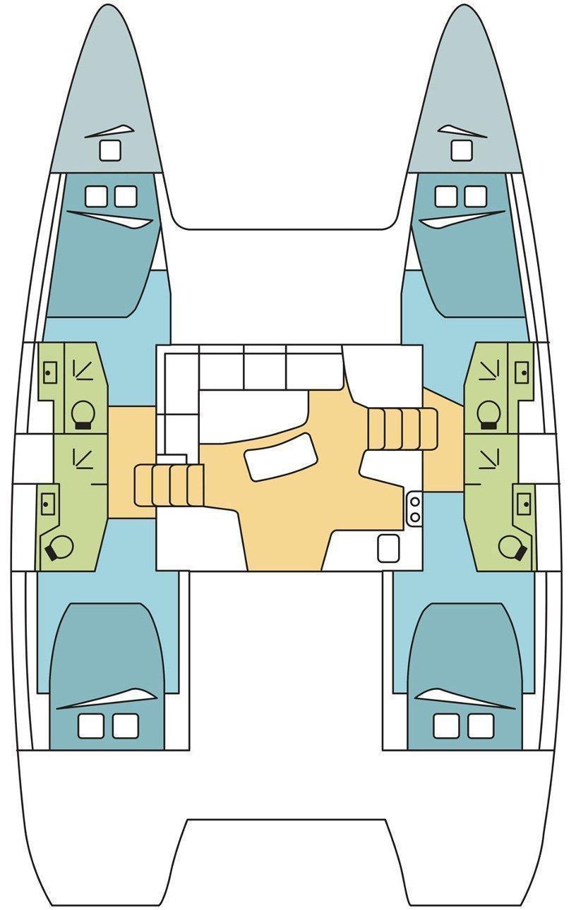 Lagoon 42 - 4 + 2 cab. (Aitutaki)  - 1