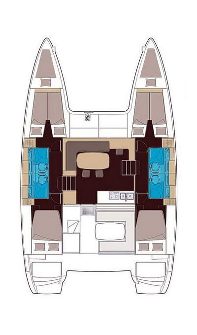 Lagoon 400 S2 - 4 + 2 cab. (IRIS (skippered only))  - 1