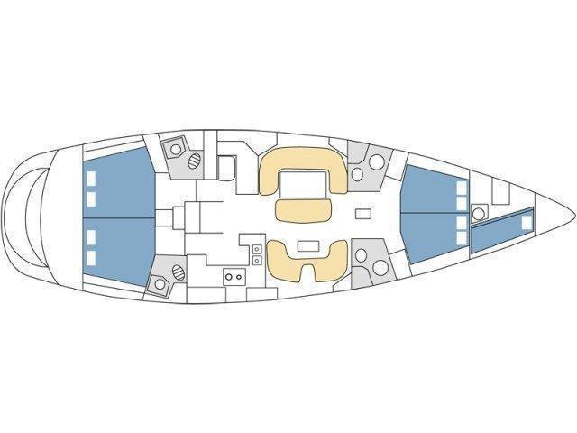 Sun Odyssey 54 DS - 4 + 1 cab. (Veni)  - 14