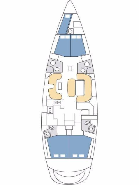 Sun Odyssey 54 DS - 4 + 1 cab. (Navicula Blue)  - 1