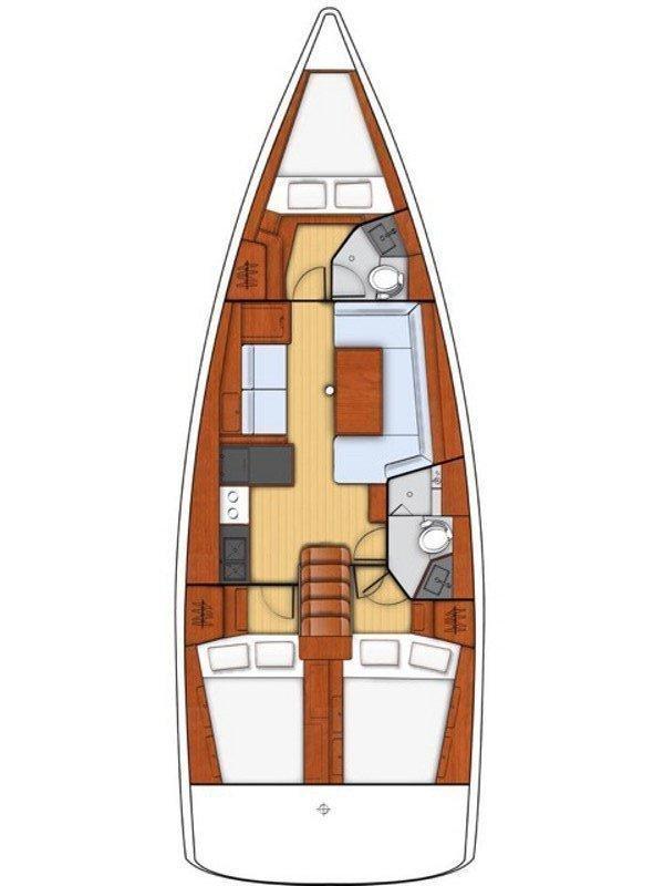 Oceanis 41.1 (Megisti)  - 1