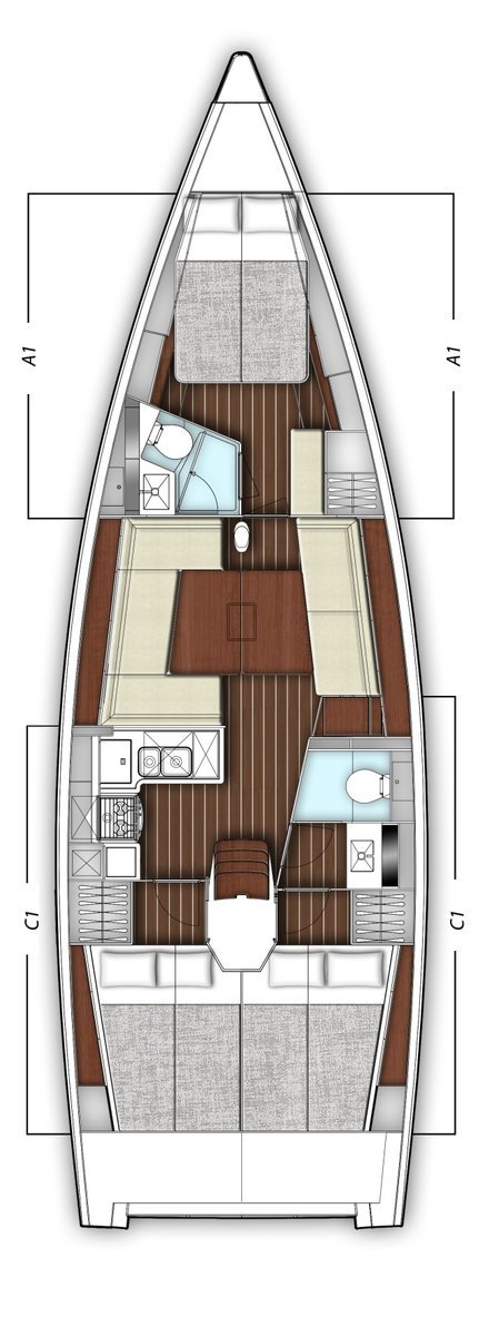 x-Yacht X4³ (Xaviera)  - 1