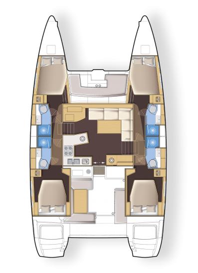 Lagoon 450 F - 4 + 2 cab. (Aeolian Dream)  - 1