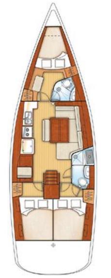 Oceanis 43 - 3 cab. (Horang Navi)  - 1