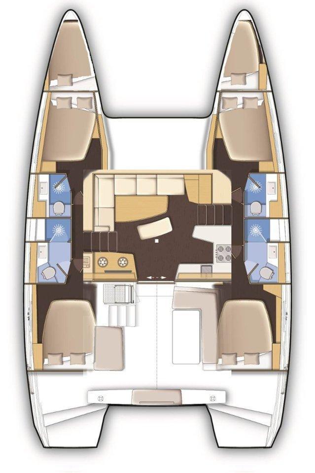 Lagoon 42 - 4 + 2 cab. (Beauty L)  - 1