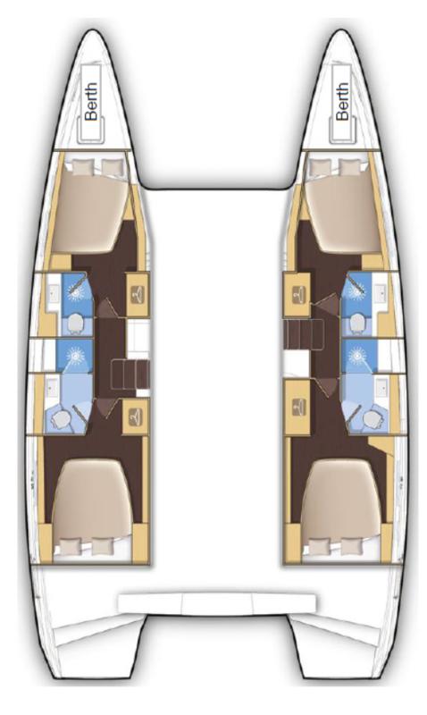 Lagoon 42 - 4 + 2 cab. (Mitra )  - 1