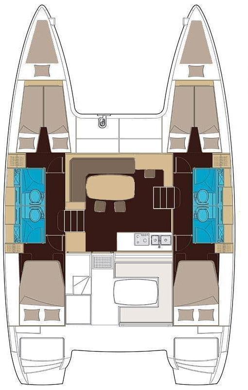 Lagoon 400 - 4 + 2 cab. (Duplo)  - 1