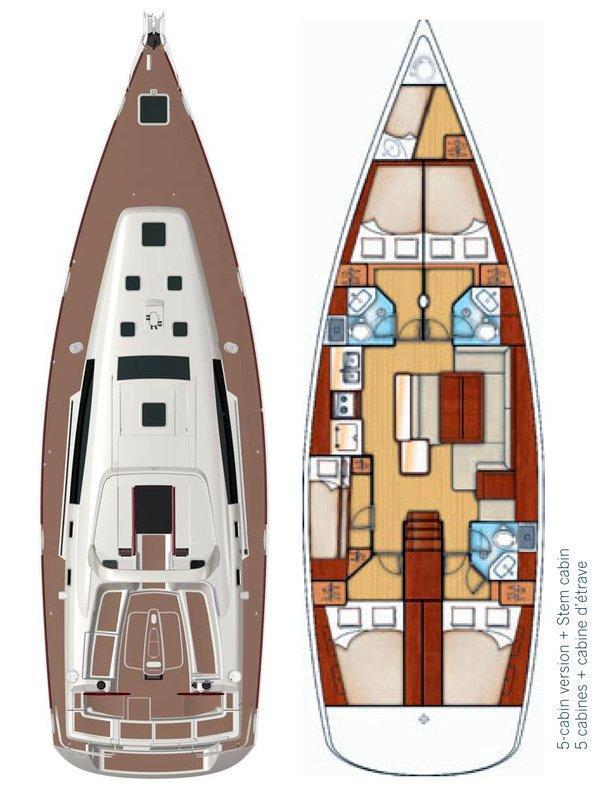 Oceanis 50 - 5 + 1 cab. (Pika II)  - 1