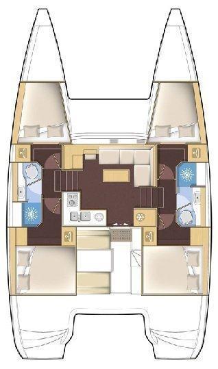Lagoon 39 - 4 + 2 cab. (Sophia)  - 1