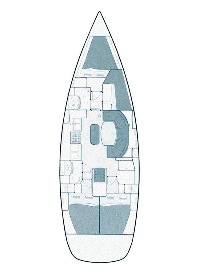 Oceanis Clipper 411 - 4 cab. (Ana Marija)  - 1
