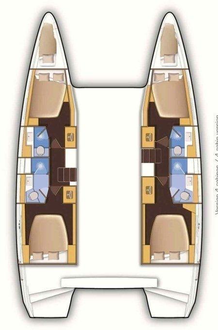 Lagoon 42 - 4 + 1 cab. (Bab)  - 1