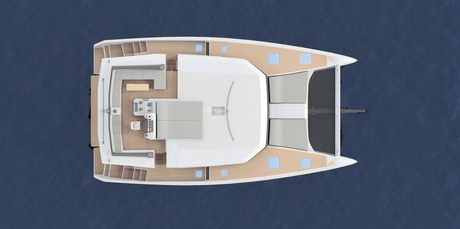 Dufour 48 Catamaran - 4 + 2 cab. (SHU - BLUE HULL, A/C+GEN., UNDERWATER LIGHTS)  - 9