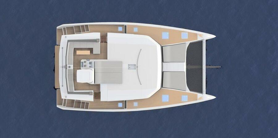 Dufour 48 Catamaran - 4 + 2 cab. (SHU - BLUE HULL, A/C+GEN., UNDERWATER LIGHTS)  - 10