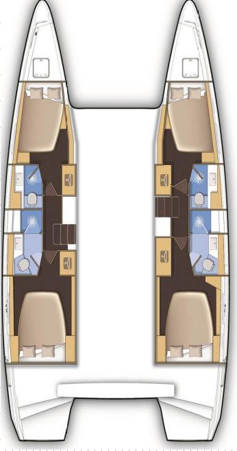 Lagoon 42 - 4 + 2 cab. (DEMI DOUX)  - 1