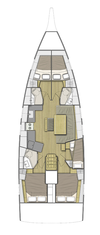 """Oceanis 46.1 (""""Mr.White"""" with A/C and generator)  - 1"""