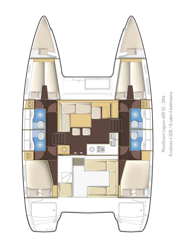 Lagoon 400 S2 - 4 + 2 cab. (Mare Quiero)  - 1