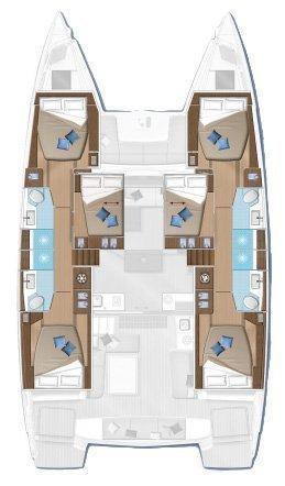 Lagoon 50 - 6 + 2 cab. (K3)  - 2