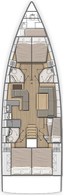 Oceanis 51.1 - 5 + 1 cab. (OCEAN HOUSE)  - 1