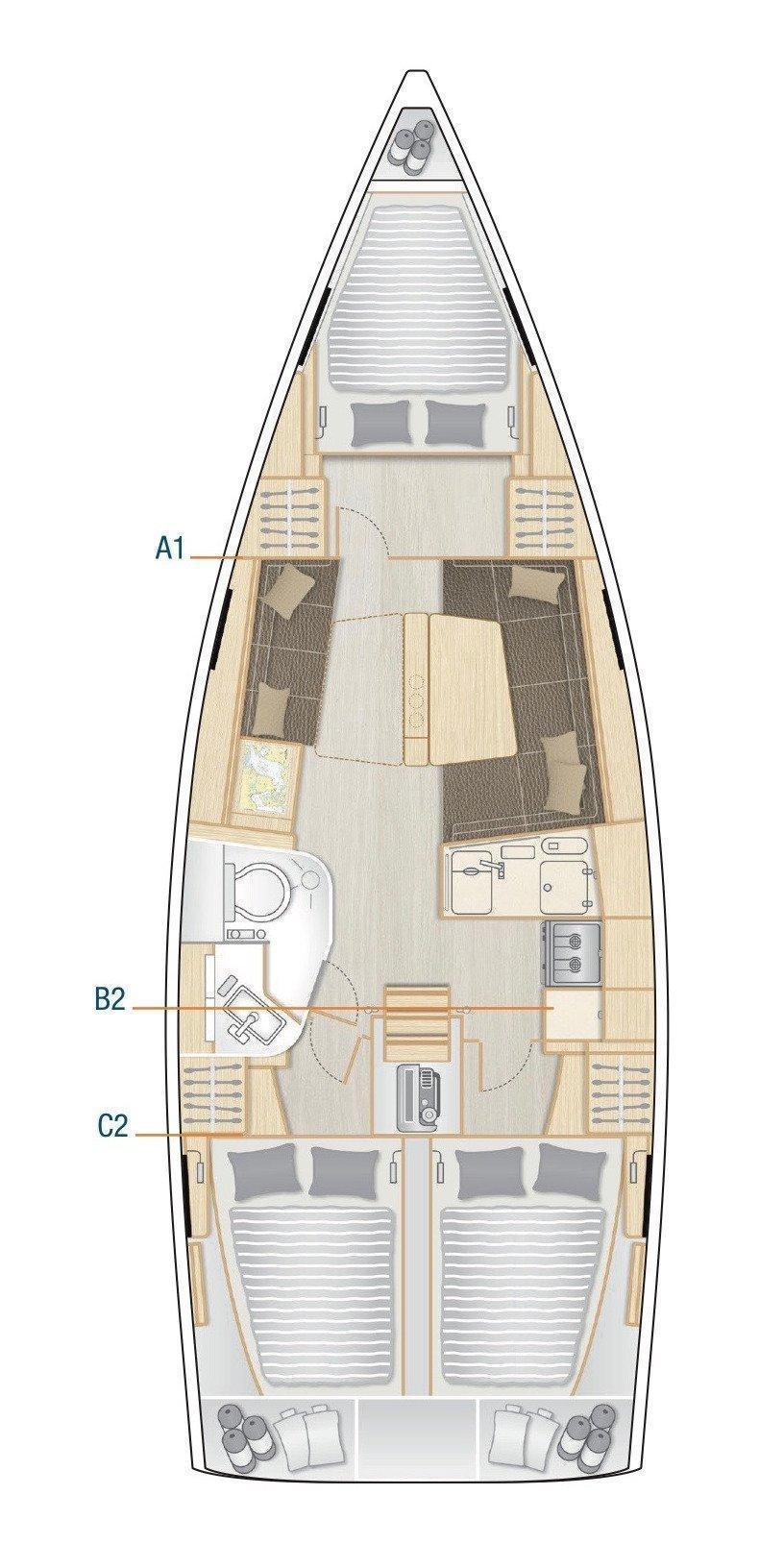 Hanse 388 (Tadeja)  - 1