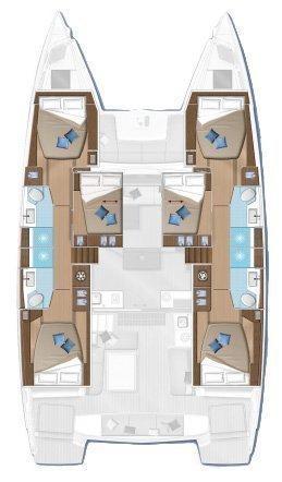 Lagoon 50 - 6 + 2 cab. (Antaeus)  - 1