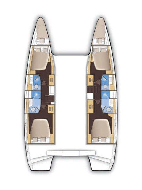 Lagoon 42 - 4 + 2 cab. (Princess Cinderella)  - 1