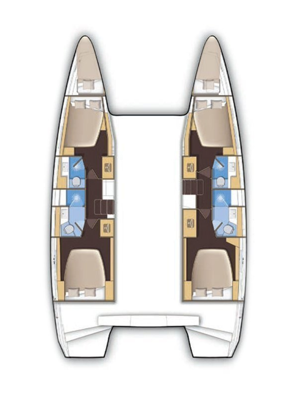 Lagoon 42 - 4 + 2 cab. (Princess Merida)  - 1