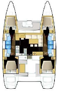 Lagoon 450 - 4 + 2 cab. (NADA)  - 1