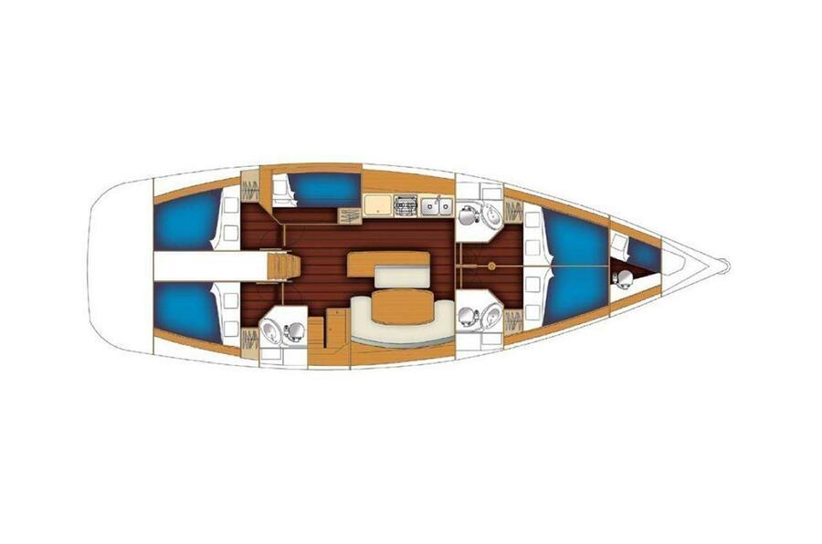 Cyclades 50.5 - 5 + 1 cab. (Aquamarine)  - 1
