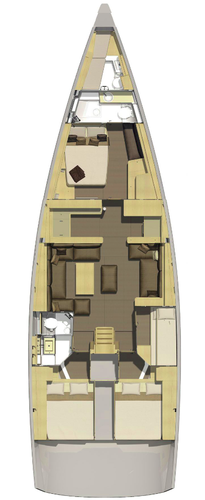 Dufour Exclusive 56 - 4 + 1 cab. (Nikto- fully equipped, gray hull)  - 1
