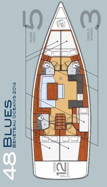 Oceanis 48 - 5 cab. (Blues)  - 1