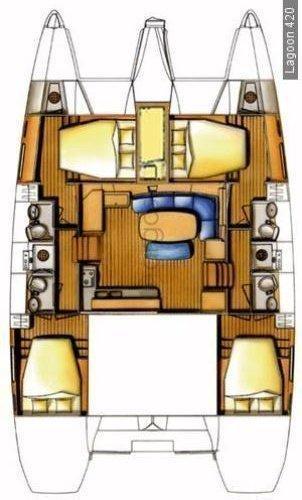 Lagoon 420 - 4 + 1 cab. (Free Seas I)  - 1