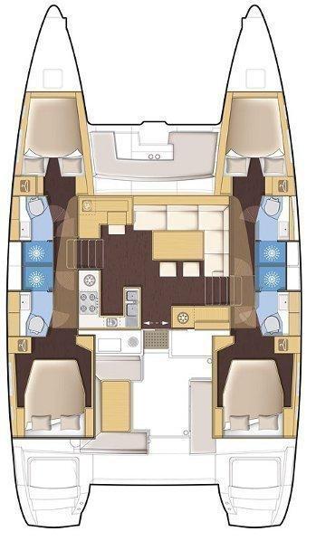 Lagoon 450 F - 4 + 2 cab. (Ariel)  - 19