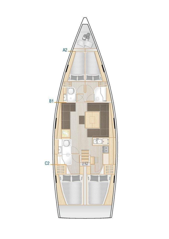Hanse 458 (Adagio, A/C - shore power only)  - 1