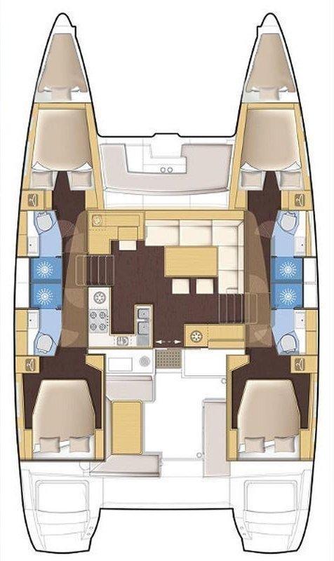 Lagoon 450 F - 4 + 2 cab. (Summer Wind 1 (AC 4 cabin version, generator, icemaker))  - 1
