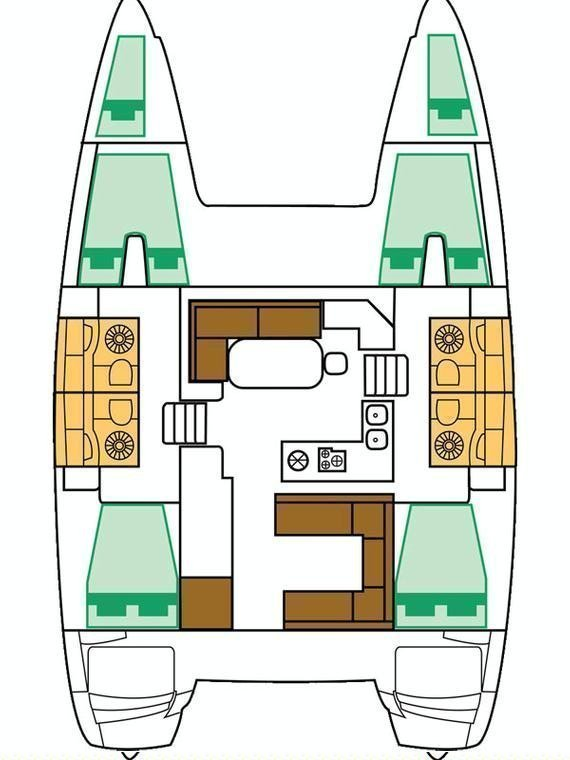 Lagoon 400 S2 - 4 + 2 cab. (Jema (Cabin charter) port bow)  - 1